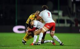 Rugby Pologne - Moldau amicaux Photos stock