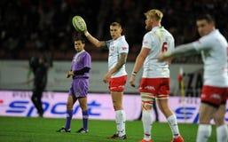 Rugby Polonia - Moldavia amichevoli Fotografia Stock Libera da Diritti