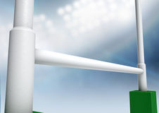 Rugby postar stadionnatt Royaltyfri Fotografi