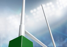 Rugby postar stadionnatt Arkivbilder