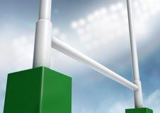 Rugby postar stadionnatt Arkivfoto