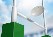 Rugby Posts Conversion Day Stock Image