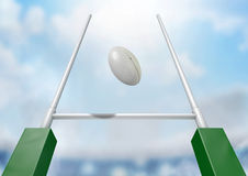 Rugby Posts Conversion Day Stock Images