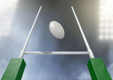 Rugby Posts Conversion Night Stock Photo