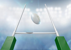 Rugby Posts Conversion Night Royalty Free Stock Images
