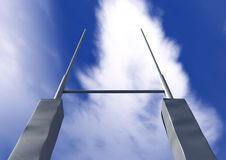 Rugby Posts Front Stock Photo