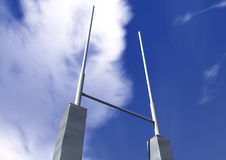Rugby Posts Perspective Stock Photos