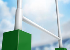 Rugby Posts Stadium Day Royalty Free Stock Photography