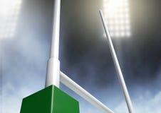 Rugby Posts Stadium Night Stock Image