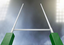 Rugby Posts Stadium Night Stock Photo