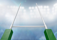 Rugby Posts Stadium Night Stock Photography