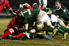 Rugby: Roemenië Georgië Royalty-vrije Stock Foto's