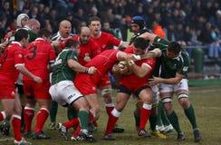 Rugby Roemenië-Georgië Royalty-vrije Stock Foto's