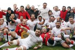 Rugby Roemenië-Georgië Royalty-vrije Stock Fotografie