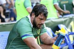 Rugby Rumänien - Brasilien stockbild