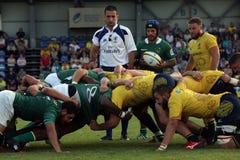 Rugby Rumänien - Brasilien Lizenzfreies Stockfoto