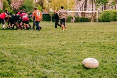 Rugby scene stock photos