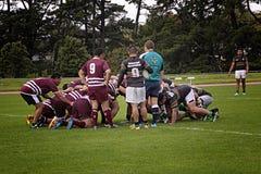 Rugby Scrum Waitemata vs Waitakere City Stock Photos