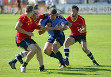 Rugby Seven action Stock Image