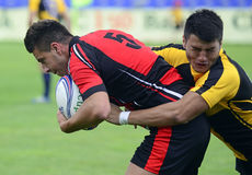 Rugby Seven action Royalty Free Stock Images