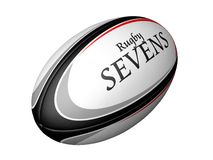 Rugby Sevens. Rugby ball with Rugby Sevens textured into it Stock Images