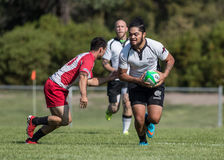 Rugby Sevens Action. Rugby action at the Mount Shasta Sevens tournament in Northern California stock image