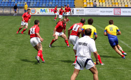 Rugby sevens championship Royalty Free Stock Photos