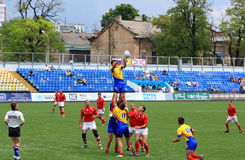 Rugby sevens Meisterschaft lizenzfreie stockbilder