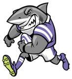 Rugby shark mascot. Vector of rugby shark mascot Stock Photos