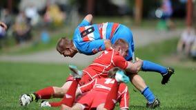 Rugby Skra Varsóvia - Budowlani Lodz Imagem de Stock