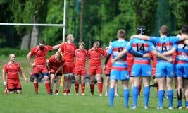 Rugby Skra Varsóvia - Budowlani Lodz Foto de Stock Royalty Free