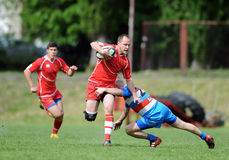 Rugby Skra Varsovie - Budowlani Lodz Images libres de droits