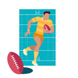 Rugby Sport Concept Icon Flat Design Royalty Free Stock Photos