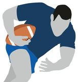 Rugby Sport. Conceptual image showing sportsman prcticing Royalty Free Stock Photography