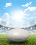 Rugby Stadium And Ball Royalty Free Stock Images