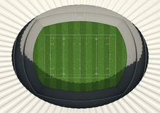 Rugby Stadium Day Royalty Free Stock Image