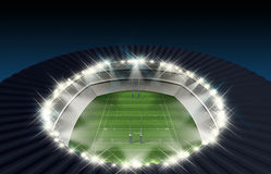 Rugby Stadium Night Stock Photography