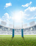 Rugby Stadium And Posts Stock Photography
