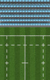 Rugby Stadium Top View Section Royalty Free Stock Photography