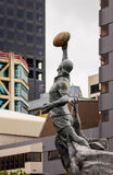 Rugby Statue Stock Photo