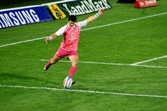 Rugby Steyn Warming Up Kicking South Africa 2012 Royalty Free Stock Photo