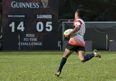 Rugby-Tätigkeit Stockfotografie