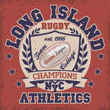 Rugby T-shirt Printing Design Royalty Free Stock Photos