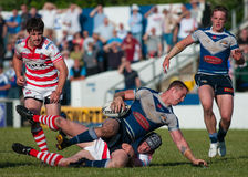 Rugby tackle Stock Image