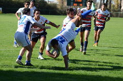 Rugby Tackle Royalty Free Stock Photos