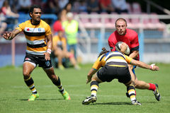 Rugby tackle Royalty Free Stock Photography