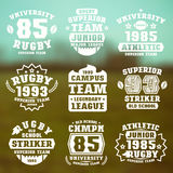 Rugby team badges Royalty Free Stock Image