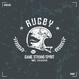 Rugby team helmet emblem Royalty Free Stock Images
