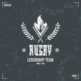 Rugby team torch emblem Stock Images