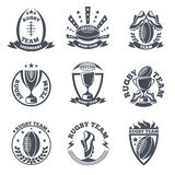 Rugby team vector badges and logos Stock Photo